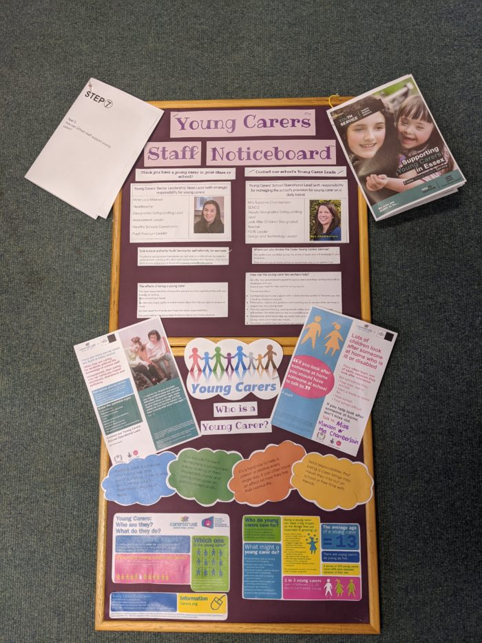 Young Carers Staff Noticeboard