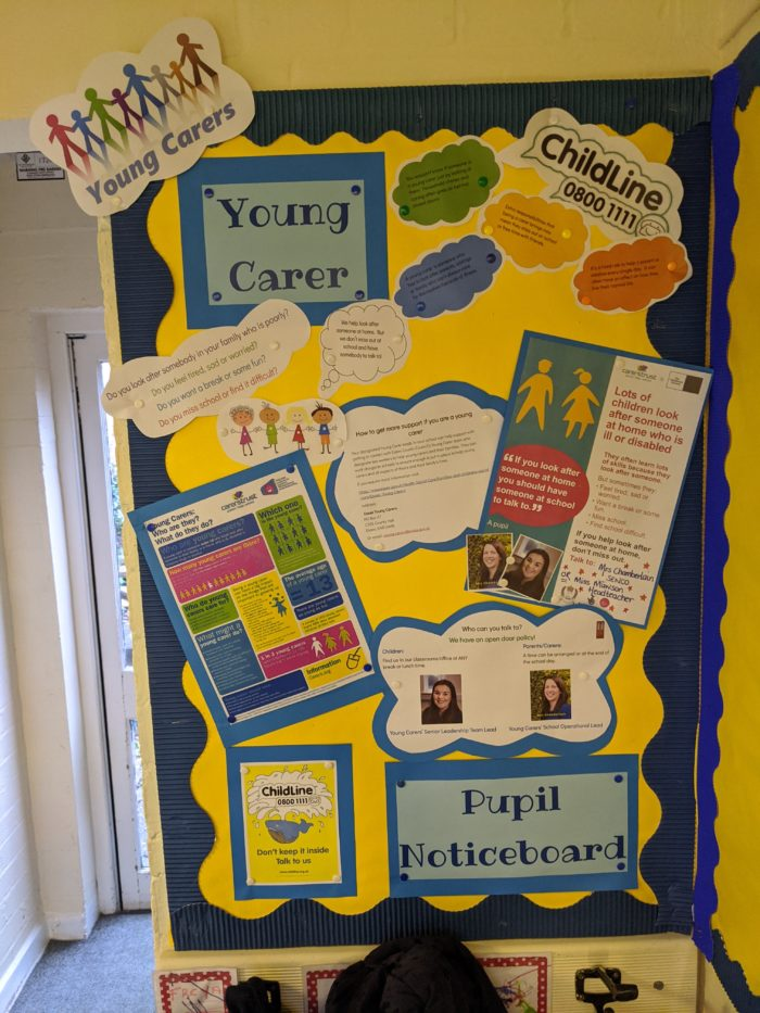 Young Carers Pupils Noticeboard